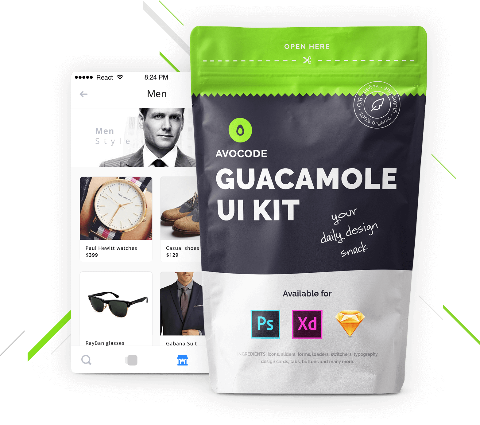 Guacamole Ui Kit By Avocode Free For Sketch Xd And Ps Avocode